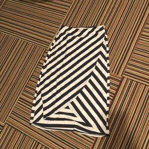 Blue and white striped athleta skirt!